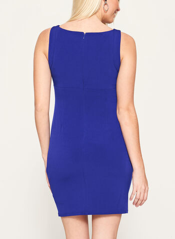 Crystal Embellished Jersey Dress, Blue, hi-res