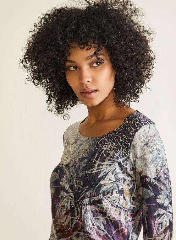 Vex - T-shirt fleuri et animalier, Violet