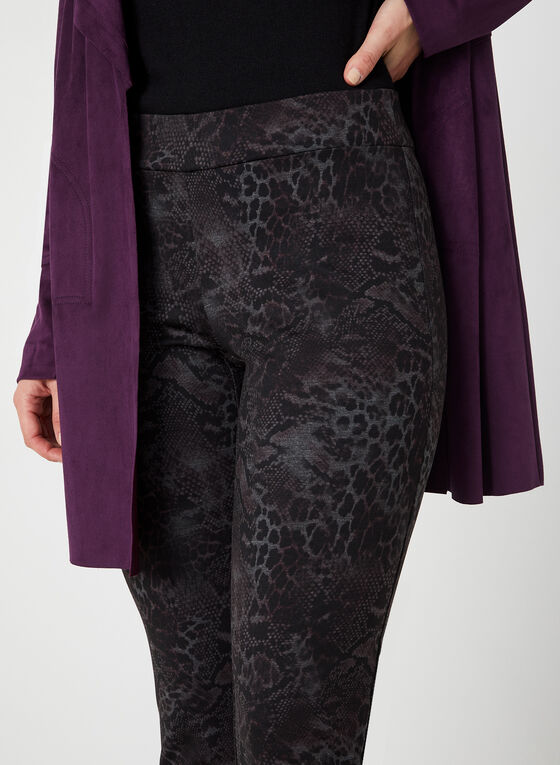 Modern Fit Printed Pants, Purple