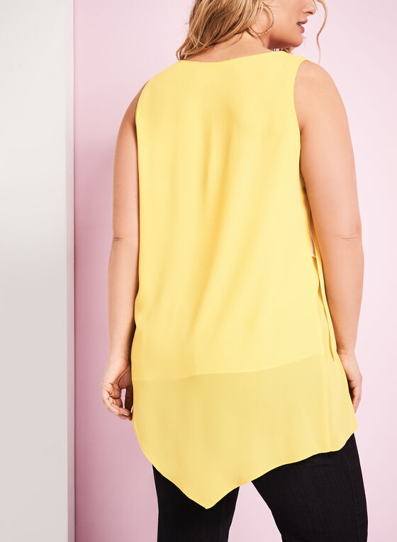 Blouse sans manches à superpositions, Jaune, hi-res