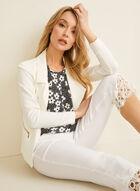 Crochet Detail Capri Pants, Off White