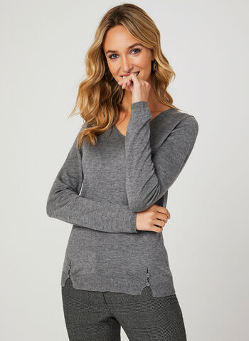 Vex - Cashmere Blend Sweater, Grey, hi-res