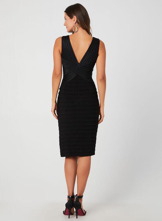 Plunging Neckline Cocktail Dress, Black