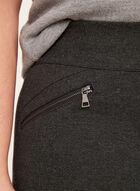 Pull-On Zipper Trim Ponte Leggings, Grey, hi-res