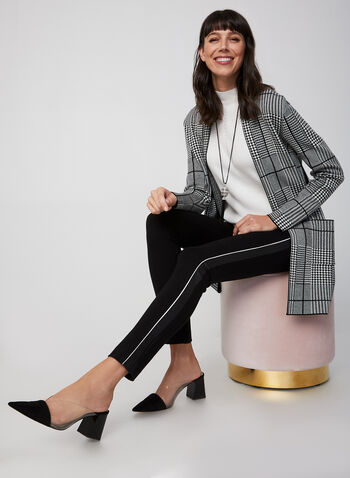 City Fit Slim Leg Pants , Black,  city fit, slim legs, pull-on, mid-rise, leather, fall 2019, winter 2019
