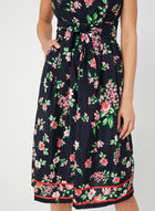 Jessica Howard - Floral Print Tie Detail Dress, Blue, hi-res
