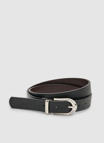 Adrienne Vittadini - Reversible Belt , Black, hi-res