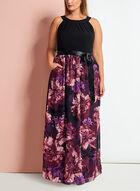 Cleo Neck Floral Print Maxi Dress, Black, hi-res