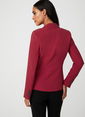 One Button Blazer, Red, hi-res