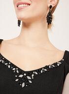 Jessica Howard - Robe fourreau à encolure cœur bijou, Noir, hi-res
