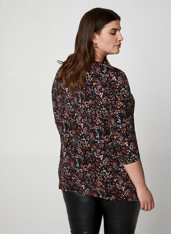 Haut en jersey floral à détail chaîne, Multi