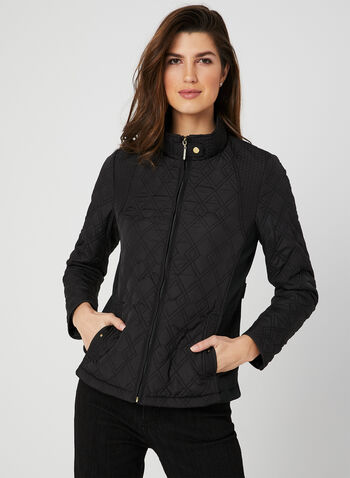 Weatherproof - Quilted Coat, Black,  spring 2019