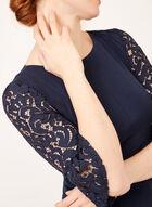 Jessica Howard - Robe ajustée et évasée détails crochet, Bleu, hi-res