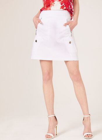 Simon Chang - Pull-On Skort, White, hi-res