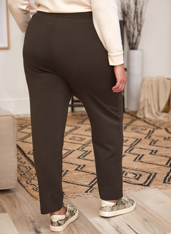 Pull-On Straight Leg Pants, Green