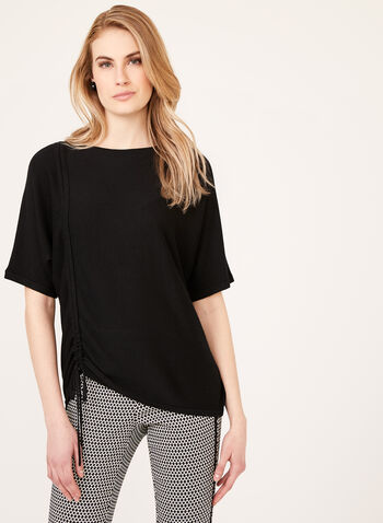 Dolman Sleeve Knit Top, Black, hi-res