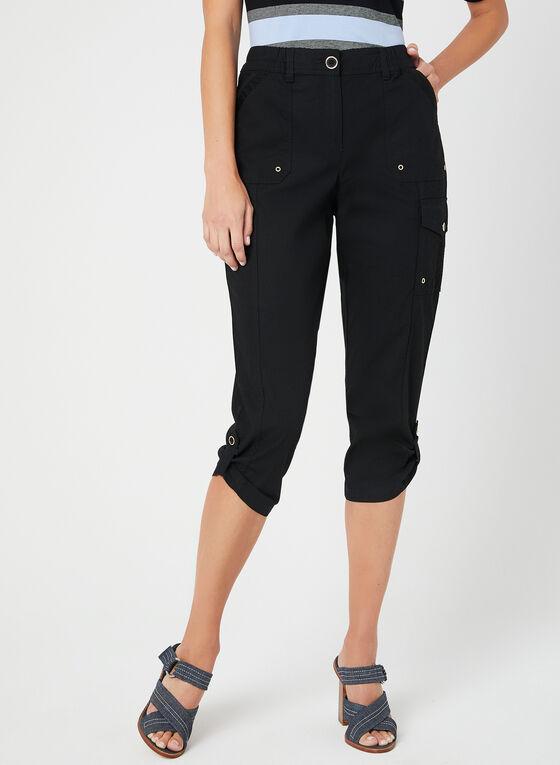 Modern Fit Capri Pants, Black, hi-res