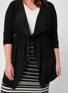 Haut en jersey noué à la taille, Noir, hi-res