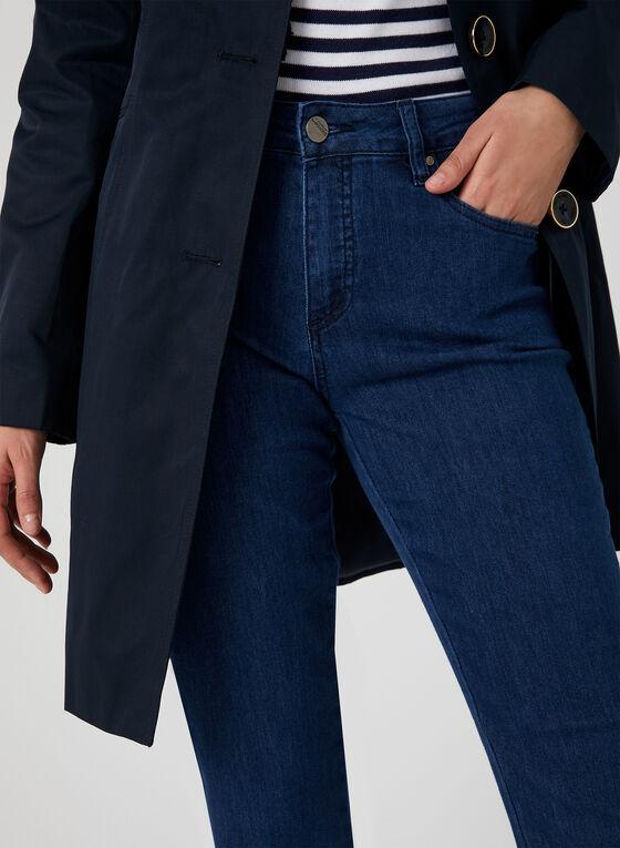 Simon Chang - Jean coupe signature à jambe droite, Bleu