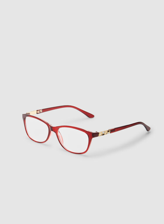 Oval Reading Glasses, Red