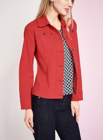 Simon Chang Bengaline Jean Jacket, Red, hi-res