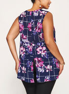 Sleeveless Asymmetric Tiered Tunic, Blue, hi-res