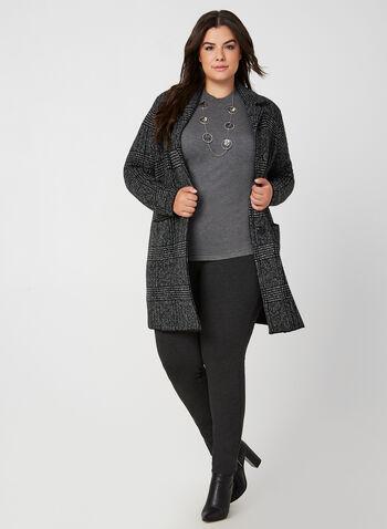 City Fit Pull-On Pants, Grey,  fall winter 2019, ponte di roma, leggings, slim leg