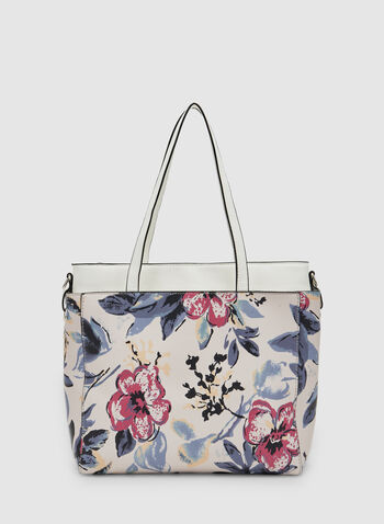 Floral Print Tote Bag, Multi, hi-res
