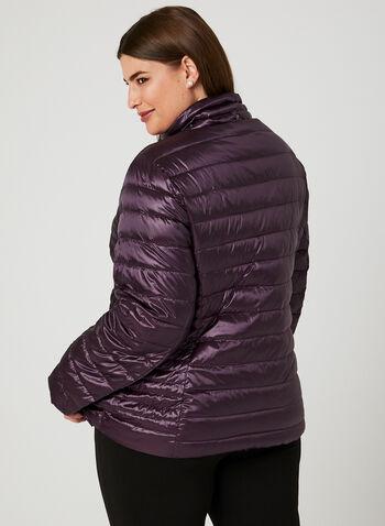 Nuage - Packable Down Coat , Purple, hi-res