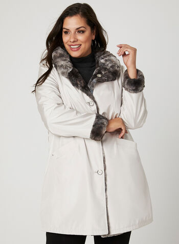 Reversible Trench Coat, Off White, hi-res