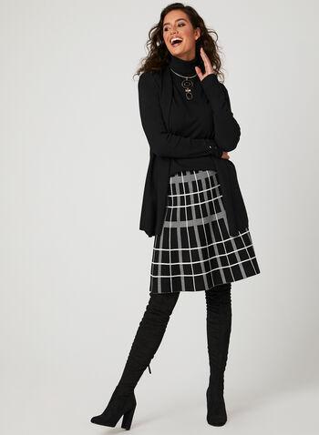 Charlie B - Geo Print Skirt, Black, hi-res