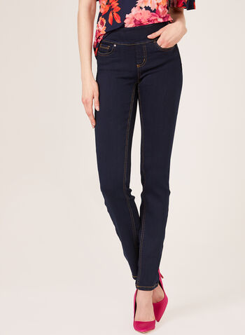 Frankie & Stella - Straight Leg Pull-On Jeans, Blue, hi-res