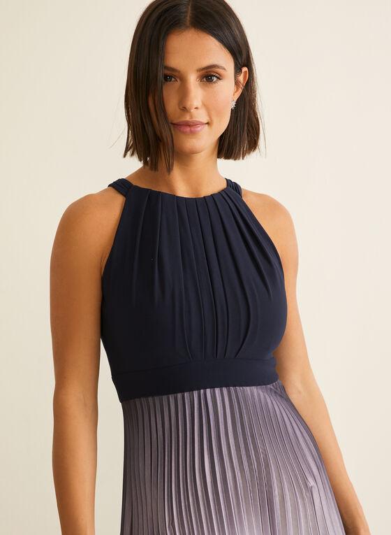 Pleated Ombré Dress, Blue