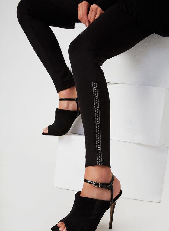 Beaded Leggings, Black