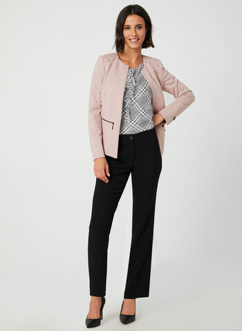 Ponte de Roma Blazer, Purple,  blazer, long sleeves, Ponte de Roma, cropped, studs, fall 2019, winter 2019