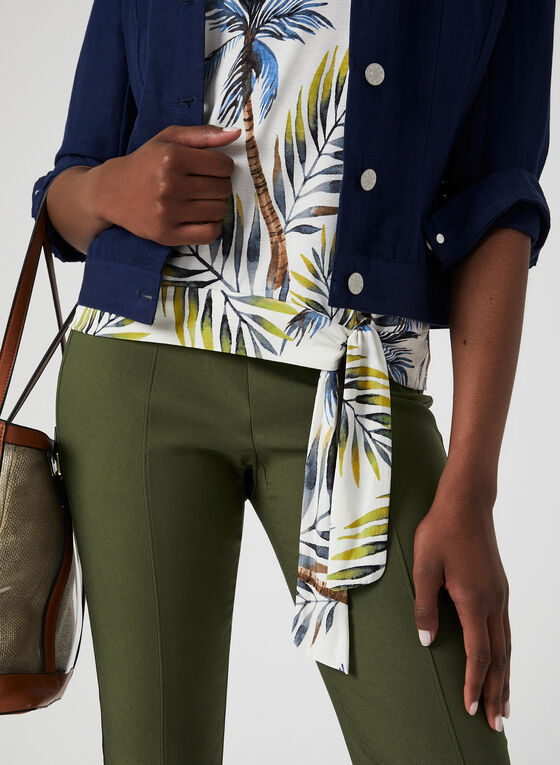Haut motif tropical et lien , Vert