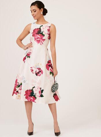 Robe florale sans manches , Rose, hi-res