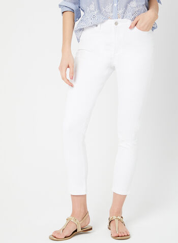 GG Jeans - Embellished Capri Pants, White, hi-res