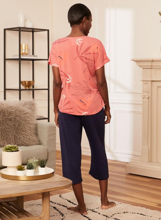 Ensemble pyjama haut et capri, Orange