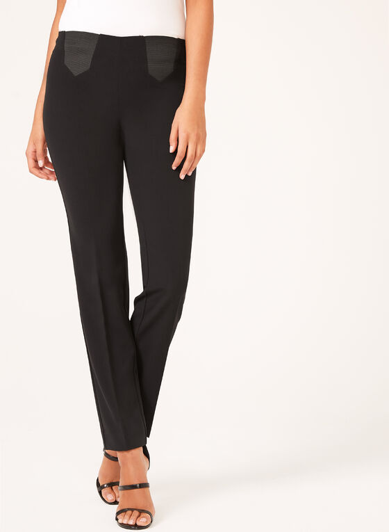 City Fit Straight Leg Pants, Black, hi-res