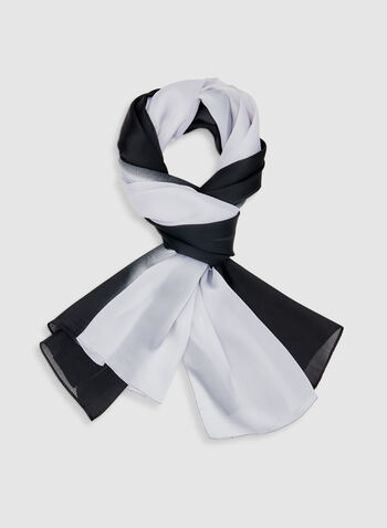 Lightweight Scarf, Black, hi-res