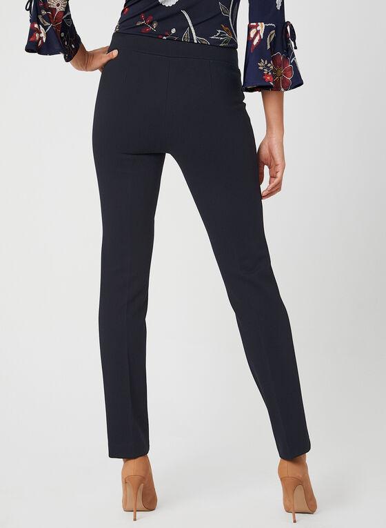 Pantalon pull-on à jambe étroite, Bleu, hi-res