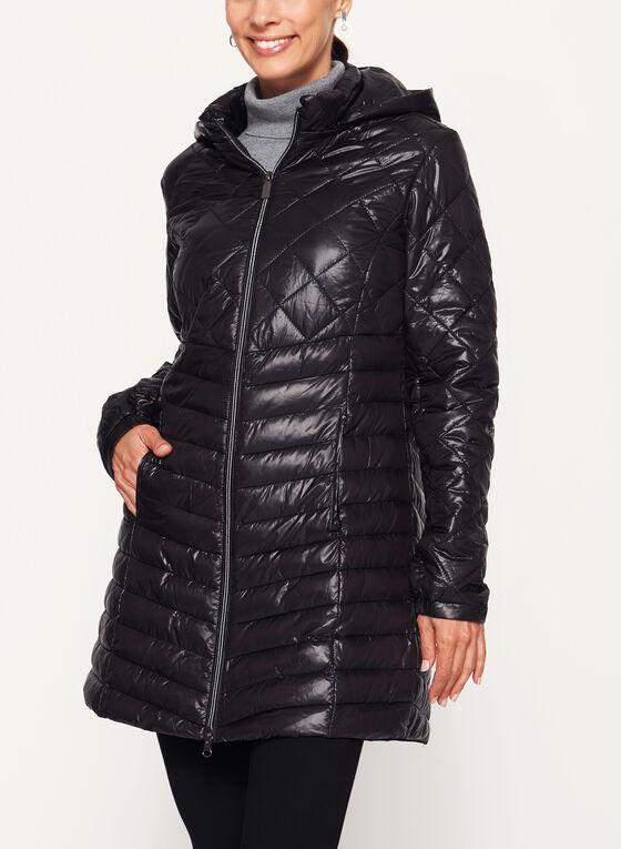 Manteau matelassé en duvet compressible, Noir, hi-res