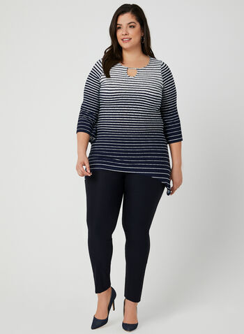 Stripe Print Jersey Tunic, Blue, hi-res