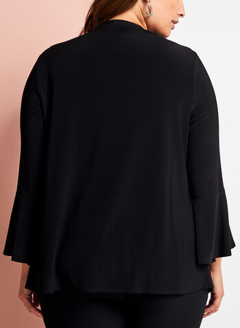 Cascade Bell Sleeve Open Front Top, , hi-res