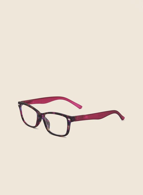 Marbled Wayfarer Reading Glasses, Purple
