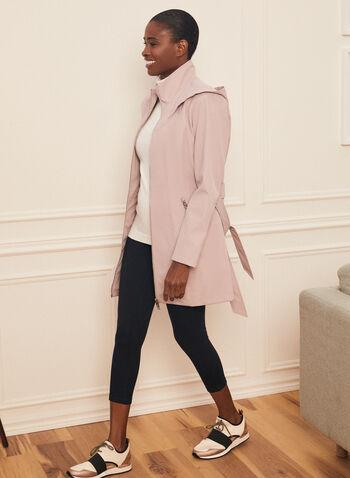 Novelti - Hooded Belt Coat, Pink,  spring summer 2020, Novelti, hood, water-resistant