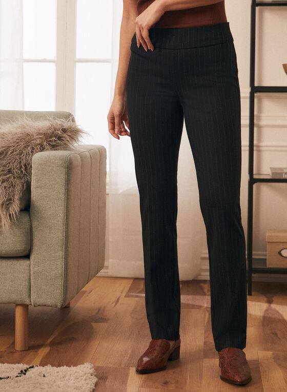 Pantalon jambe droite à enfiler, Noir