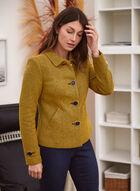Button Down Knit Blazer, Yellow
