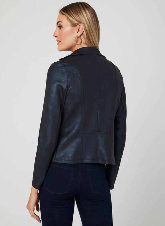 Open Front Scuba Jacket, Blue, hi-res